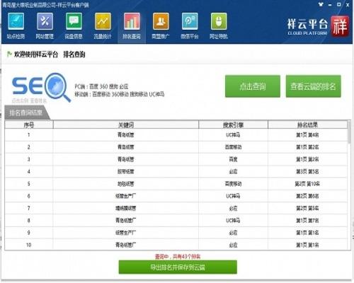 青岛网络推广屋大维的网站排名
